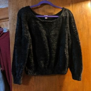 Victoria's Secret black fuzzy sweater XL